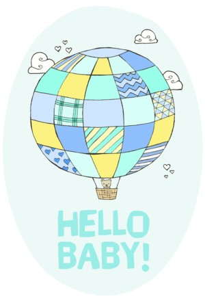 New Baby Balloon: Blue