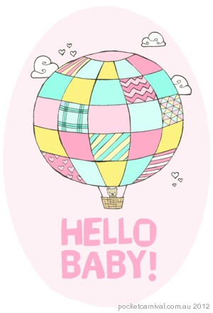New Baby Balloon: Pink