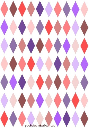 Harlequin Pink & Purple