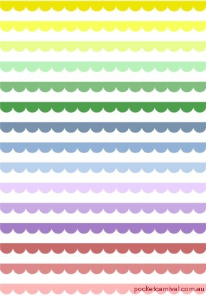 Scalloped Lines Rainbow