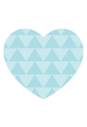 Loveheart Card - Blue Polka Dots