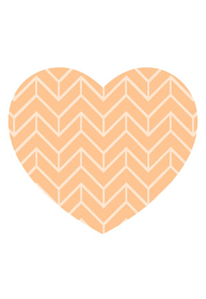 Loveheart Card - Orange Polka Dots