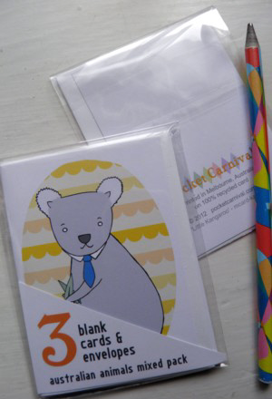 Mini Card 3 Pack - Aus Animals