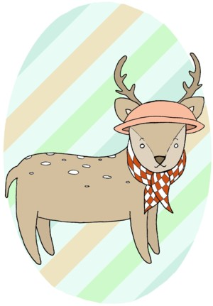 Mini Card: Deer