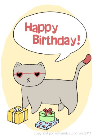 Talking Cat - Happy Birthday!
