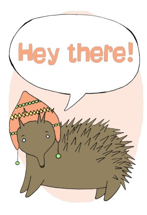 Talking Echidna - Hey There!