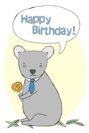 Talking Koala - Happy Birthday!